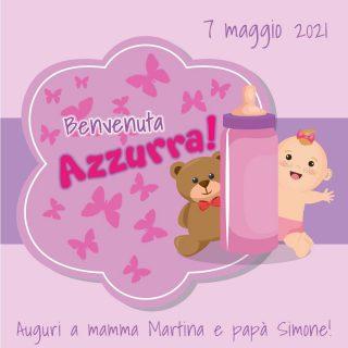 🥳 Oggi è un giorno speciale!! 👶 💟 Benvenuta Azzurra!!! Auguri a mamma Martina e papà Simone! 💖💖💖